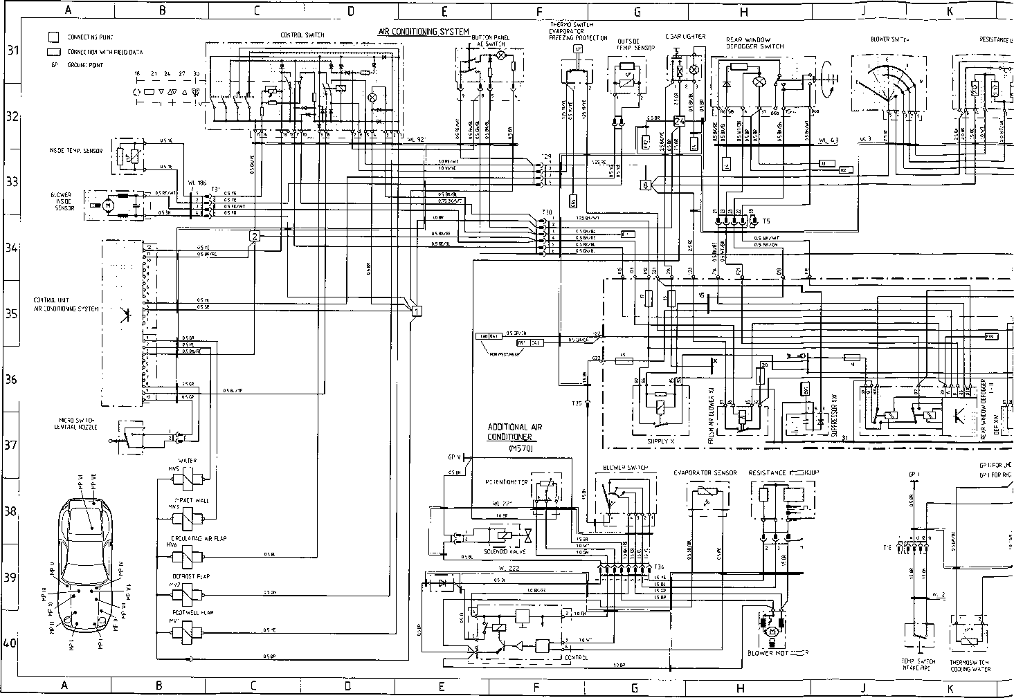 V13 S Model 91 Hheet B Flow Diagram Porsche Archives