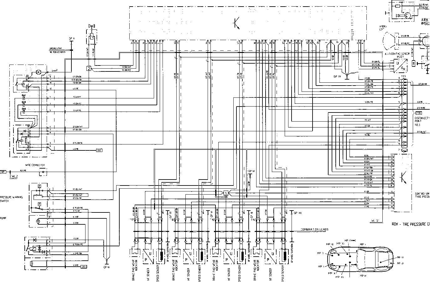 porsche alarm wiring diagram e39 alarm wiring diagram s model 91 sheet - flow diagram - porsche archives