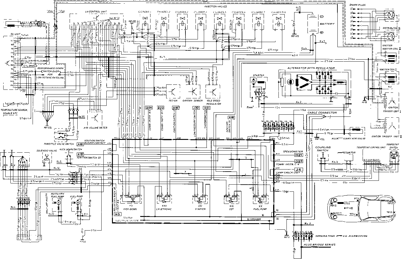 Wiring Diagram Type 928 S Model 85 Page Flow Engine Diagrams Porsche 964 Plug Connection For Gear Change Indicator On Instrument Cluster