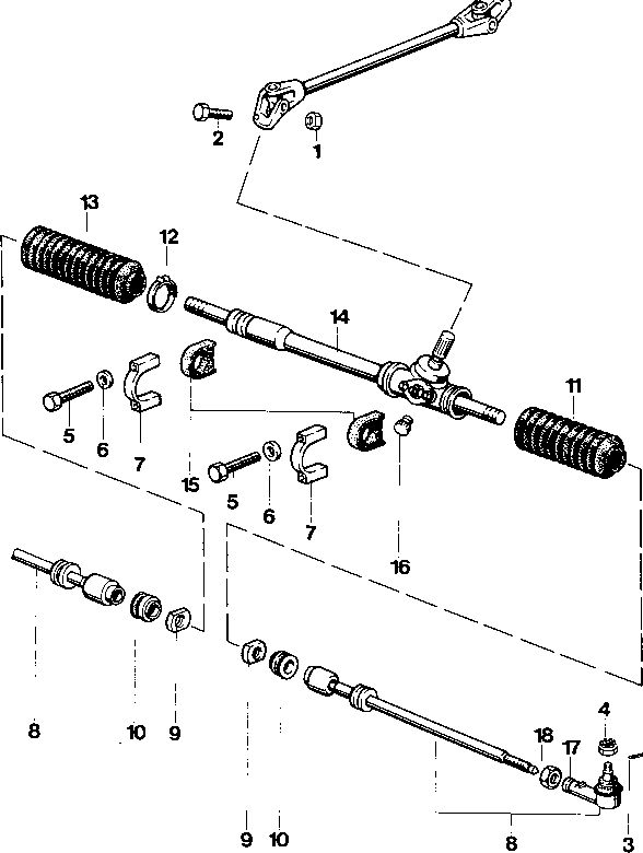 Too Short Porssche 924 Tie Rod