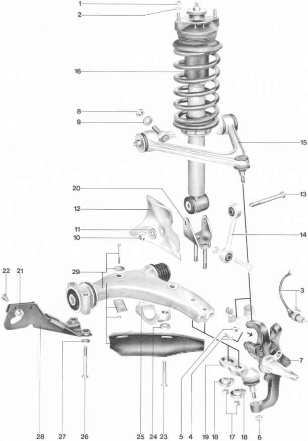 Porsche 928 Rear Suspension