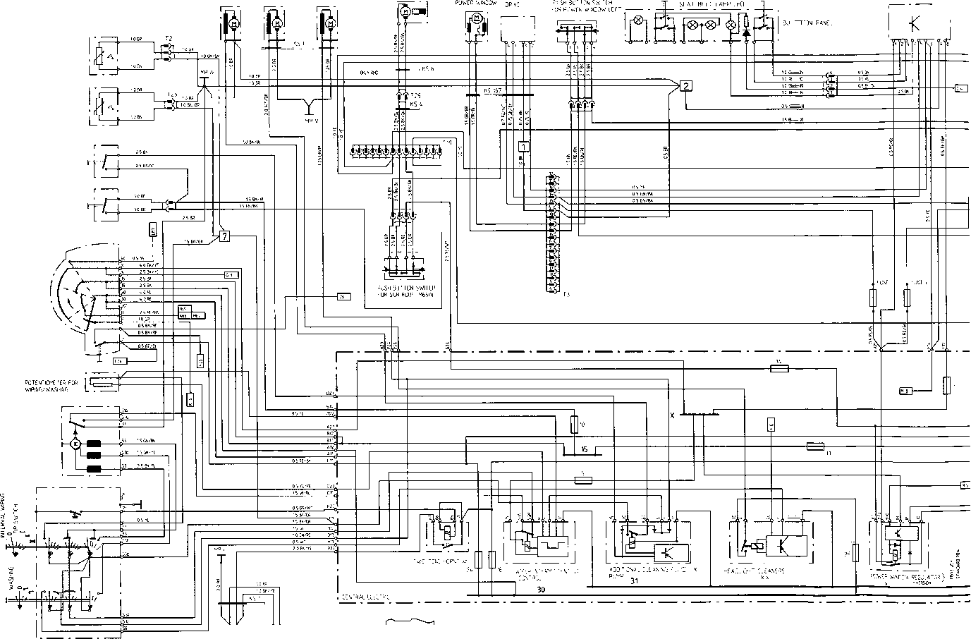 1977 Porsche 924 Wiper Wire Diagram