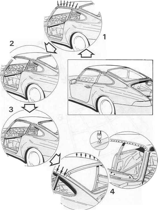 Car Roofpannel Blueprint
