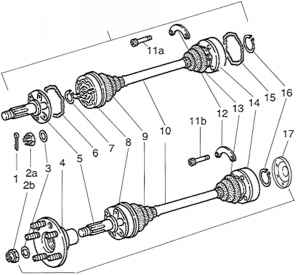 Axle shaft assembly removing and installing - Porsche 911