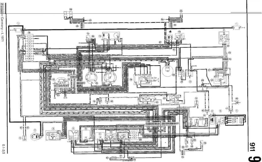 electric wiring diagram part i type 911 t 911 e 911 s model rh porscherepair us Porsche 911 Interior Porsche 911 Turbo