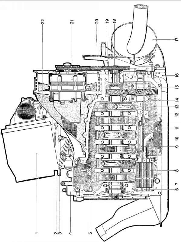 engine cross section - porsche 911 guide