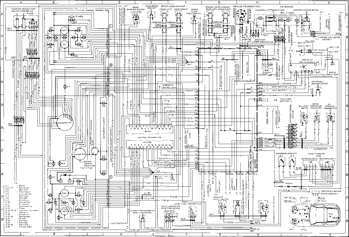 Wiring Diagram Type 928 S Model 86 page - Porsche 928 Repair