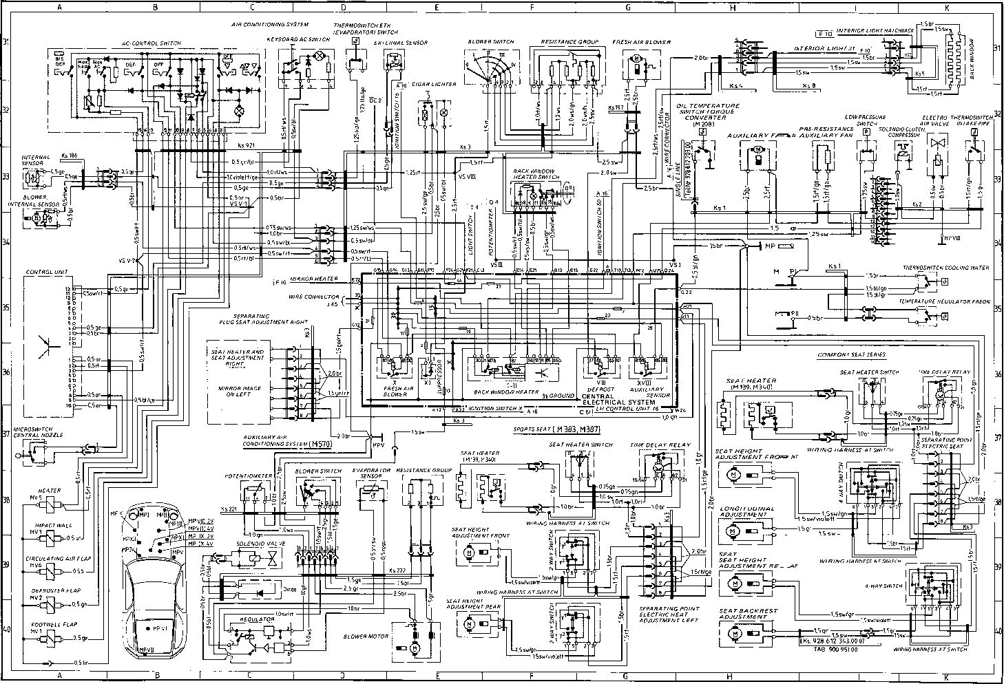 Heating System Diagram Likewise Wiring Also How To Replace A 1985 Pace Arrow Type 928 S Model 86 Page Porsche Repair Rh Porscherepair Us