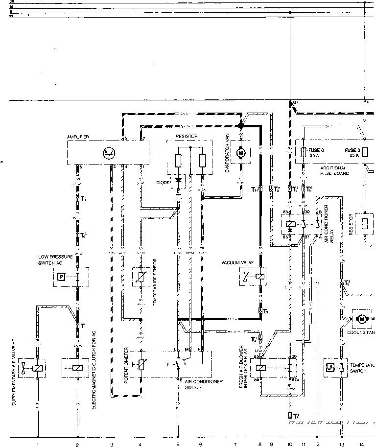Current Flow Diagram Type 944 USA - Porsche 944 Electrics