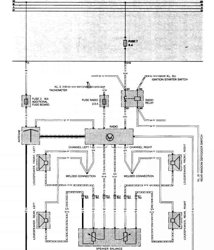 1986 porsche 944 radio wiring diagram
