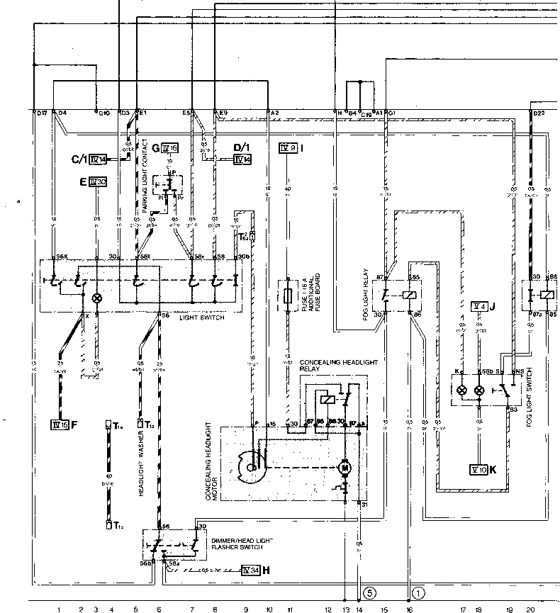 1979 vw transporter wiring diagram current row diagram type 944 usa model 84 - porsche 944 ...