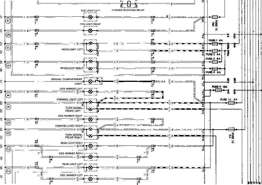 current row diagram type 944 usa model 84 - porsche 944 electrics, Wiring diagram