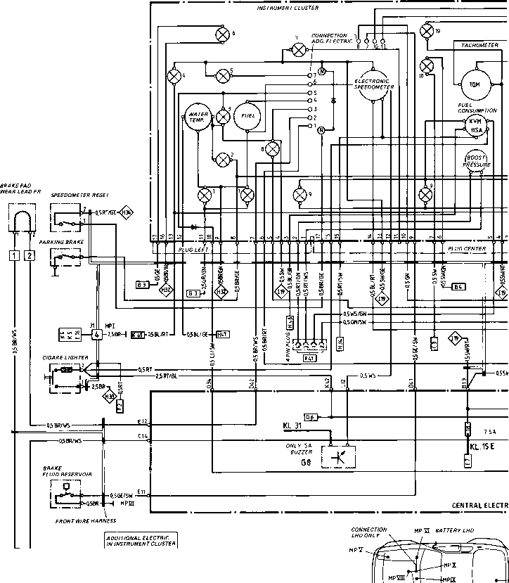 wiring diagram type 944944 turbo model 852 page porsche 944 electrics rh porscherepair us 944 Turbo Engine Diagram Porsche 944 Fuse Diagram 1987