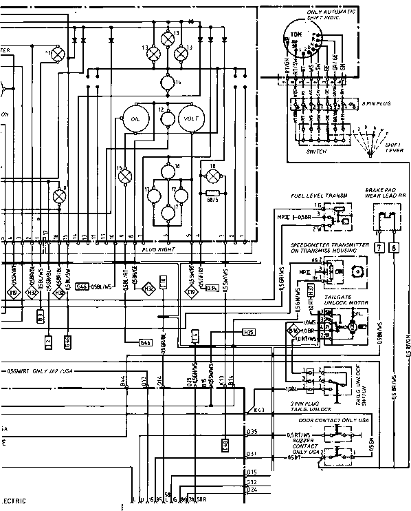 instrument cluster wiring diagram schematic