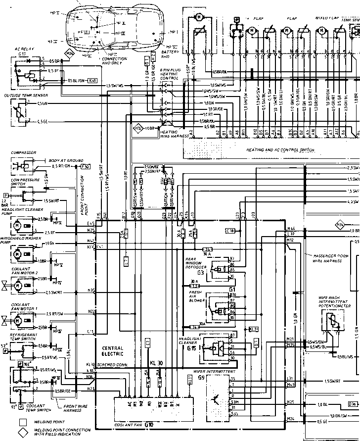 wiring diagram type 944944 turbo model 852 page porsche 944 rh porscherepair us 2004 porsche heated seat wiring diagram Porsche 356 Wiring-Diagram