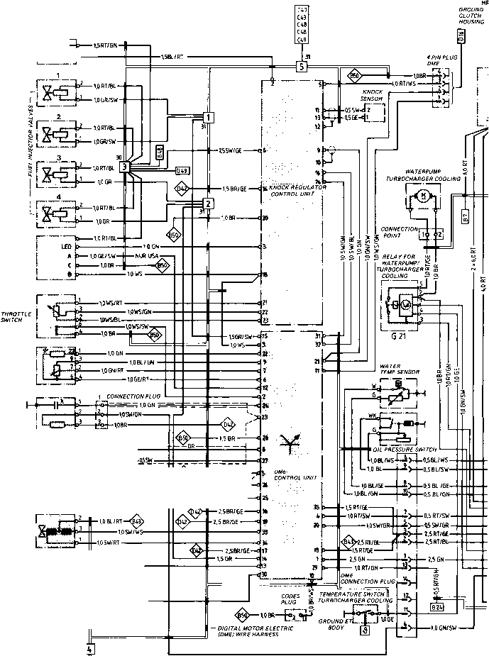 Wiring Diagram Type 944944 Turbo Model 852 Page Porsche