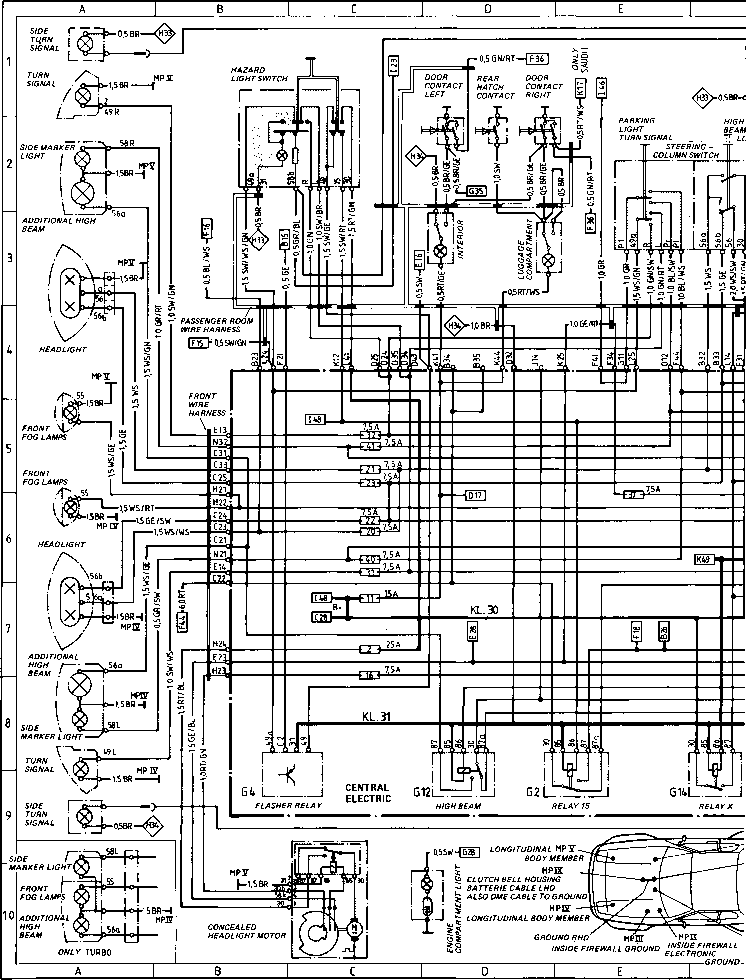 diagram type 944944 turbo porsche 944 electrics porsche archives