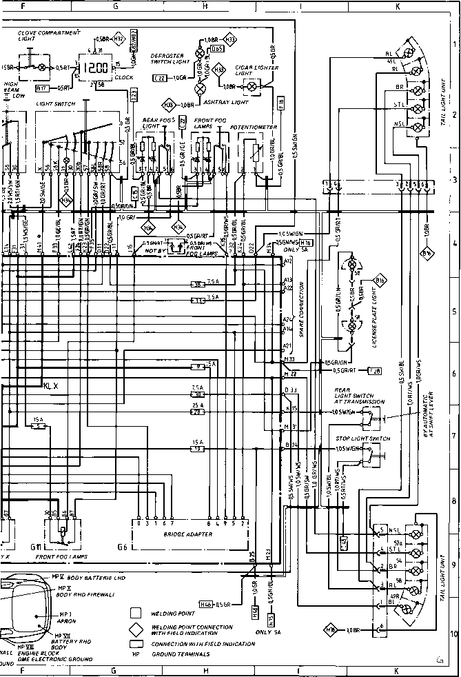 porsche 944 wiring diagram lights   33 wiring diagram