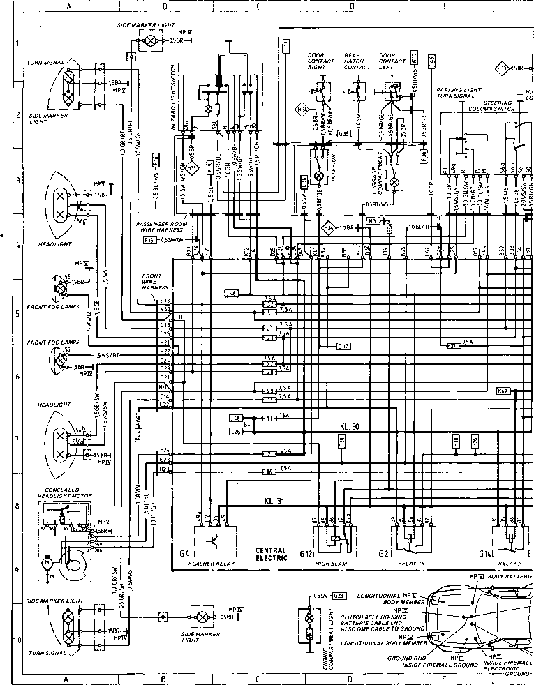 Diagram Type 944944 Turbo Porsche 944 Electrics