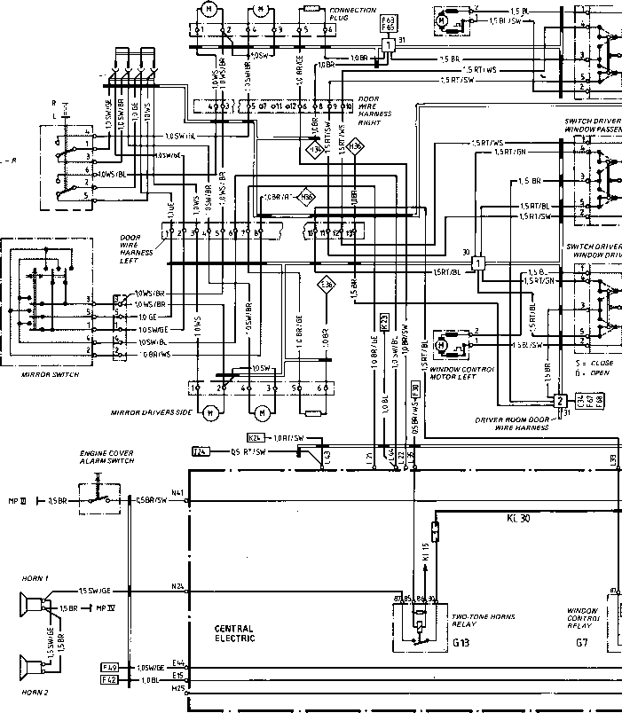 porsche 944 radio wiring diagram