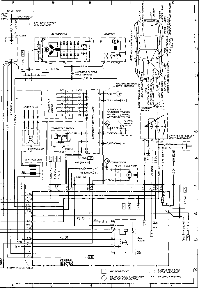 wiring diagram type 944944 turbo model 86 sheet