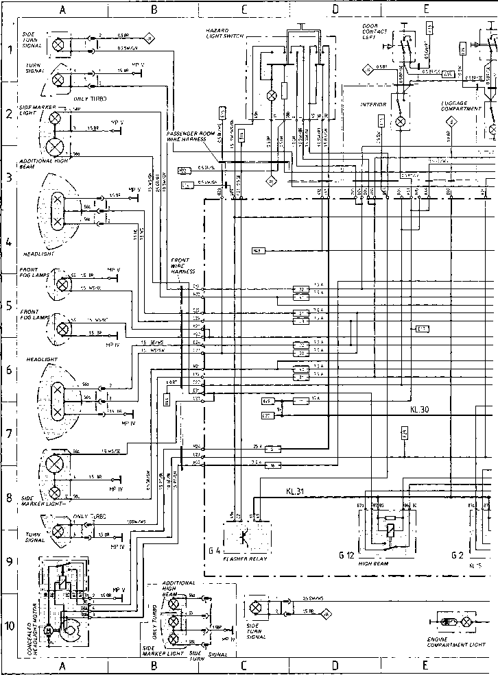 wiring diagram type 944944 turbo 944 s model 87 porsche 944 electrics rh porscherepair us porsche 964 turbo wiring diagram porsche 964 turbo wiring diagram