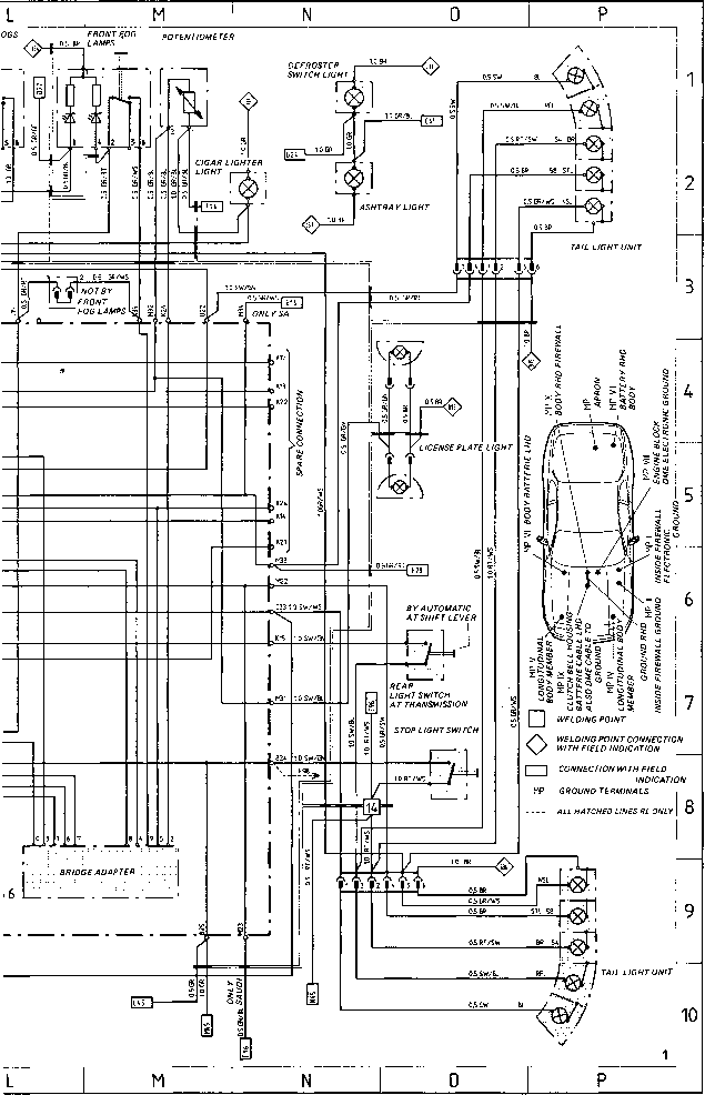 Wiring Diagram Type 944944 Turbo 944 S Model 87 Porsche
