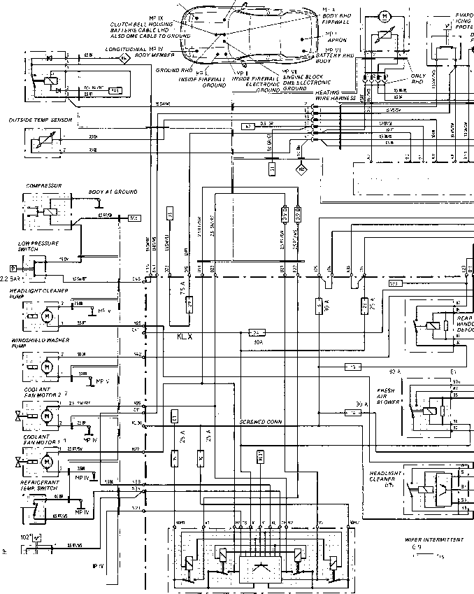 wiring diagram type 944944 turbo 944 s model 87 s porsche 944 electrics