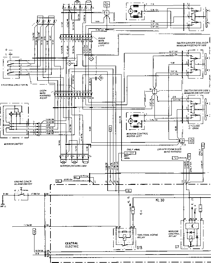 wiring window diagram switch 944 86 porsche