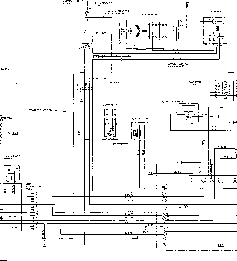 wiring diagram type 944 model 87 sheet porsche 944 electrics