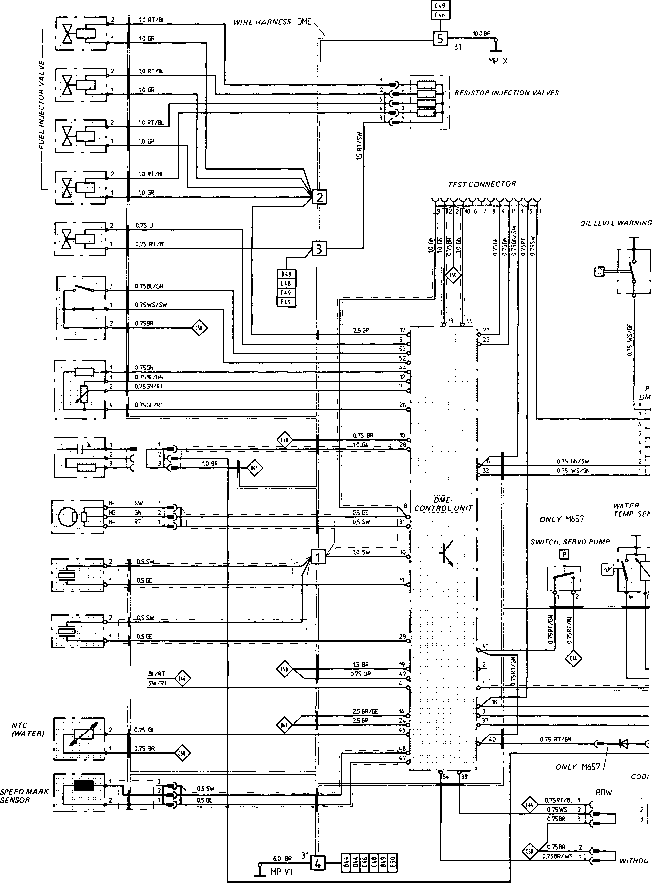 Wiring Diagram Type 944 S Model 87 Sheet Porsche 944