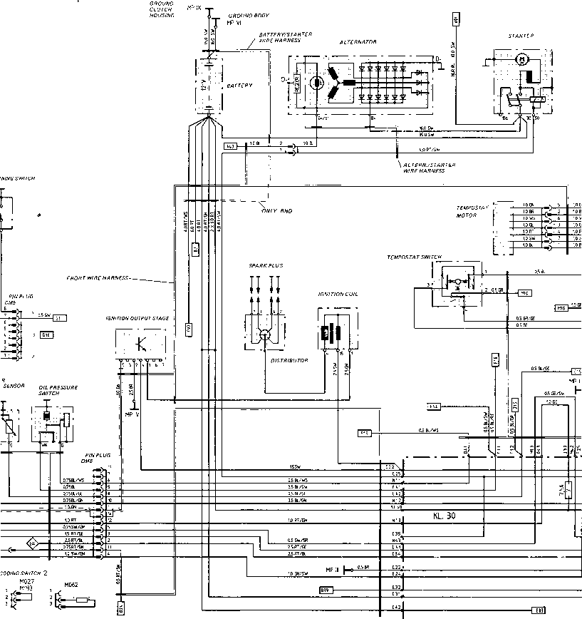 wiring diagram type 944 s model 87 sheet porsche 944 electrics
