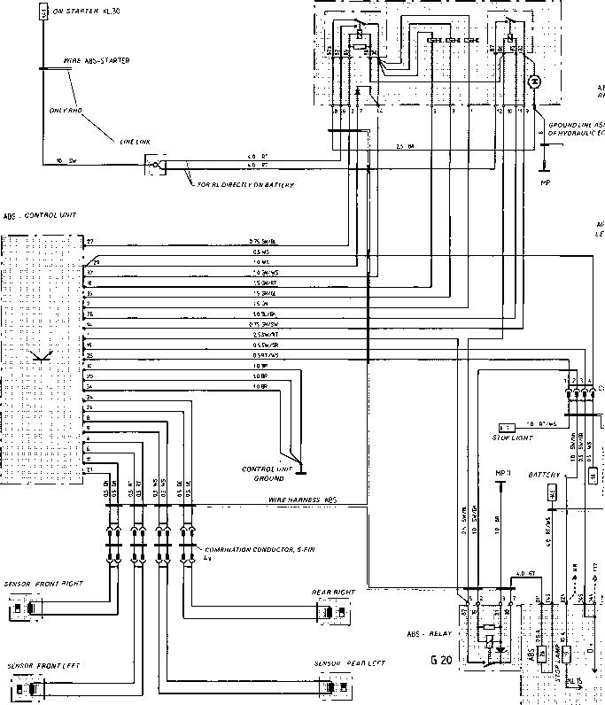 porsche 944 abs wiring diagram porsche 944 alarm wiring diagram sheet - porsche 944 electrics - porsche archives