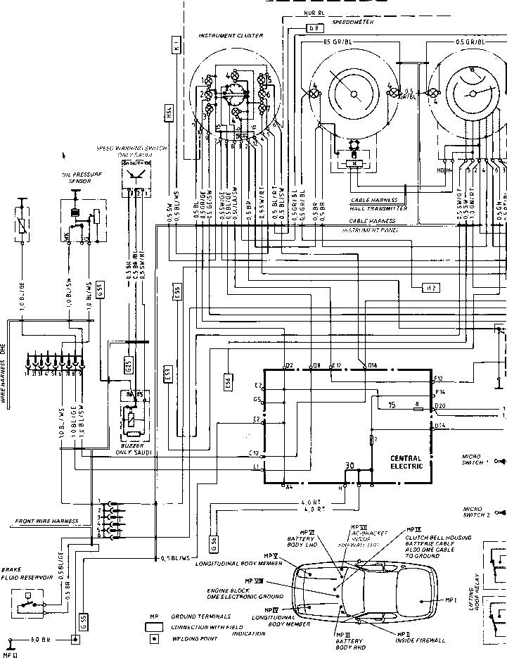 Wiring Diagram Type 924 S Model 86 Sheet - Porsche 944 ...