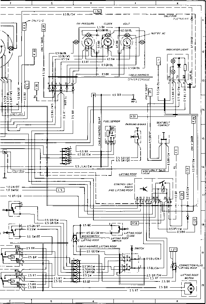 wiring diagram type 924 s model 86 sheet porsche 944 electrics car alarm circuit diagram porsche alarm wiring diagram