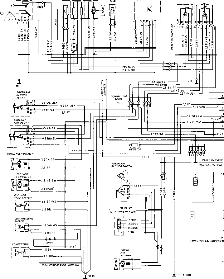 wiring diagram type 924 s model 86 sheet porsche 944. Black Bedroom Furniture Sets. Home Design Ideas