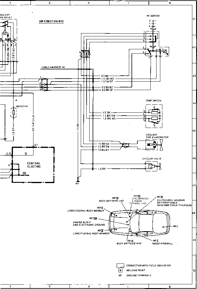 wiring diagram type 924 s model 86 sheet porsche 944 electrical wiring
