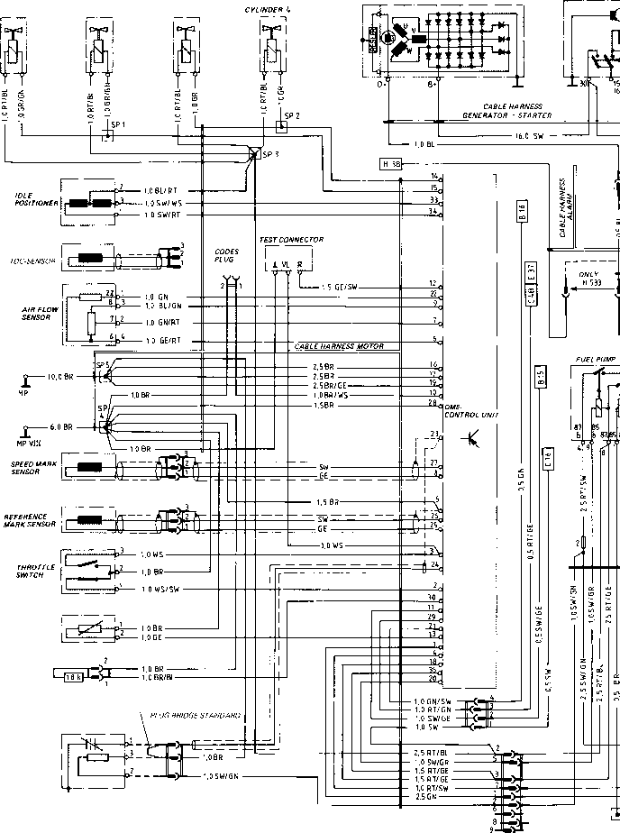 wiring diagram type 924 s model 86 sheet porsche 944 electrics rh porscherepair us