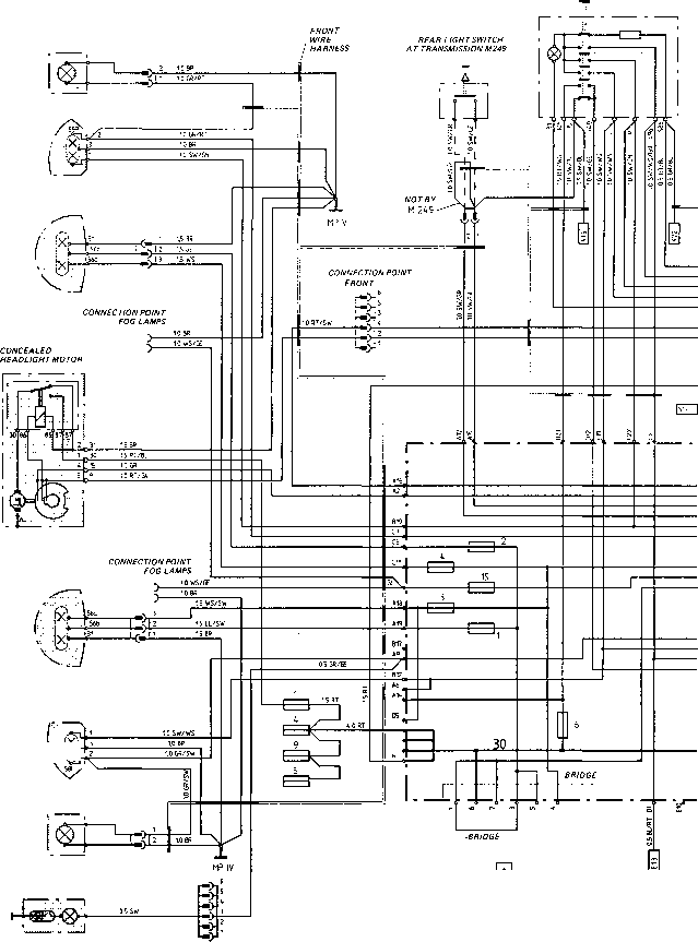 2120_67_222 porsche 924 engine compartment wiring diagram type 924 s model 87 sheet porsche 944 electrics 1984 porsche 944 wiring diagram at crackthecode.co