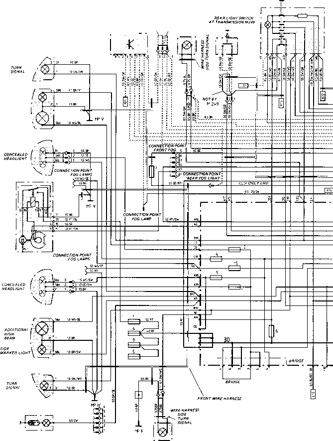 2120_67_225 concealed beam wiring diagram type 924 s model 87 sheet porsche 944 electrics Porsche 944 Fuel Relay at alyssarenee.co