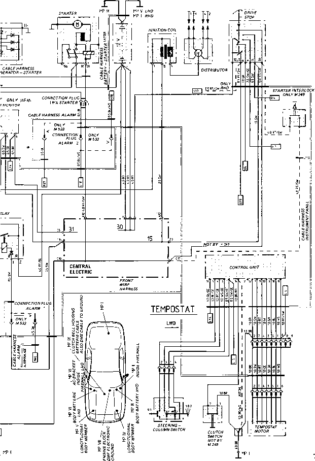 wiring diagram type 924 s model 87 sheet porsche 944. Black Bedroom Furniture Sets. Home Design Ideas