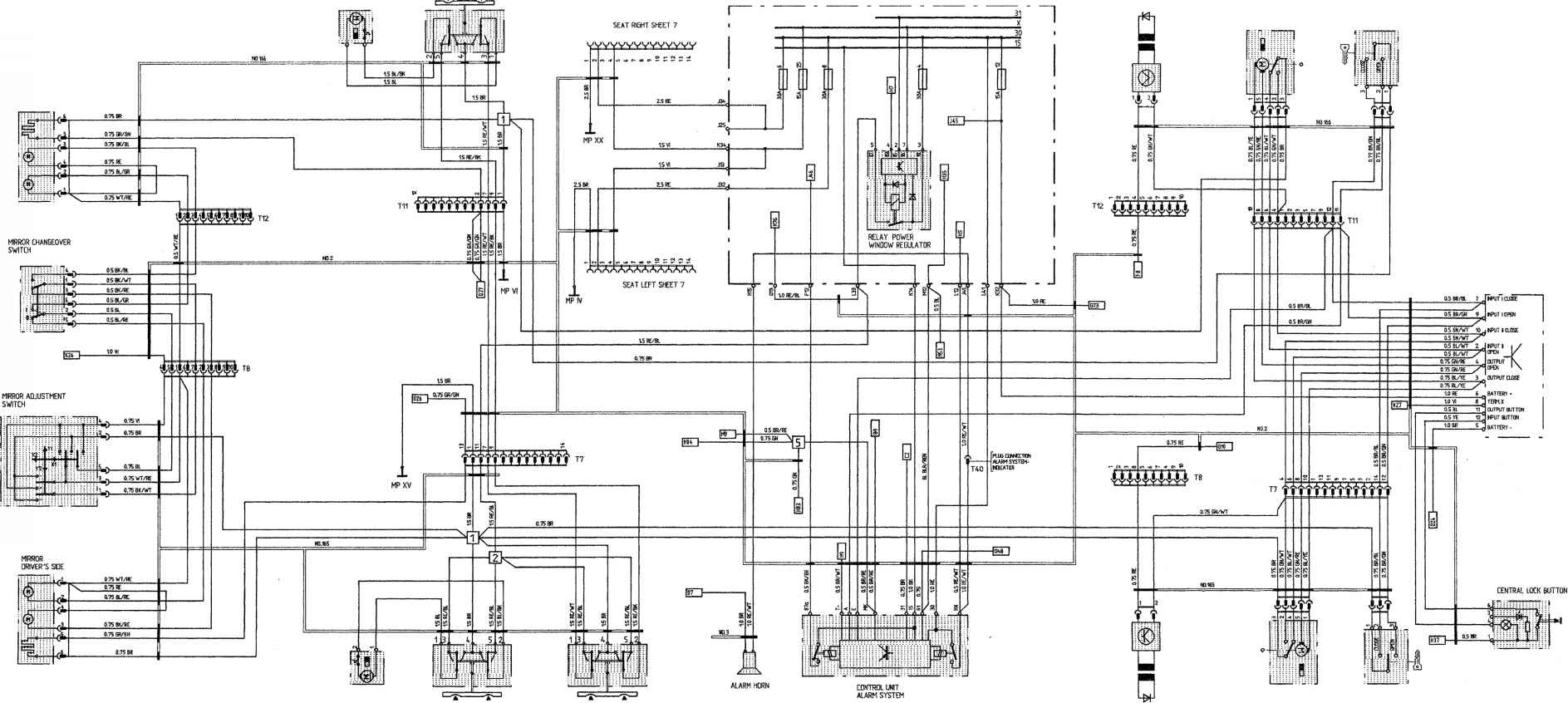 larrera 4 model 89 sheet porsche 964 911 carrera4 porsche archives car alarm circuit diagram porsche alarm wiring diagram