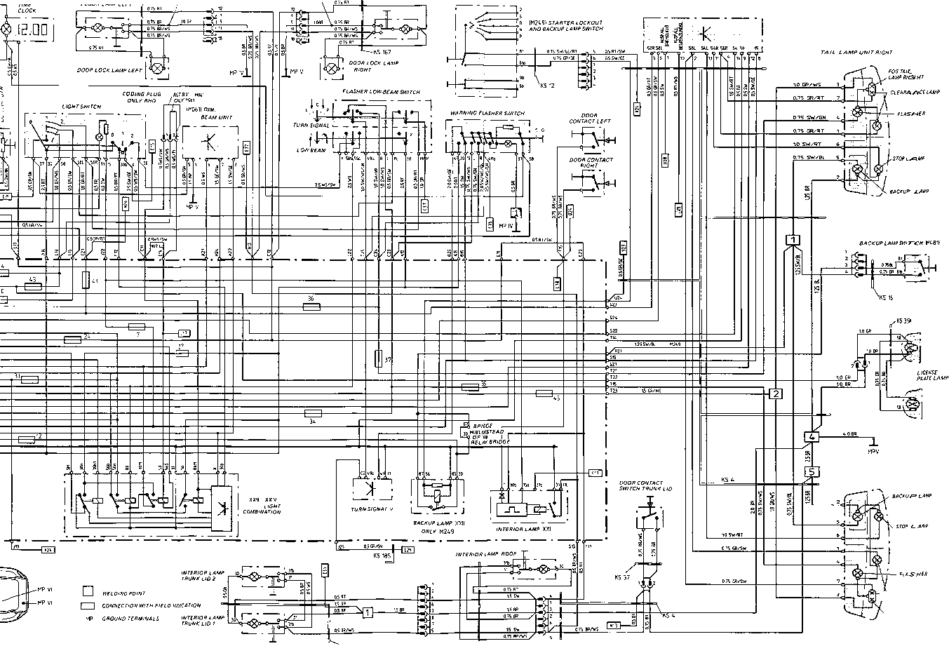 Wiring Diagram Type 928 S Model 8 page - Porsche Wire Diagram